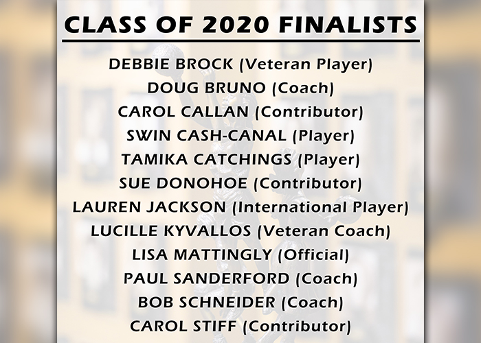 Class Of 2020 Finalists Women S Basketball Hall Of Fame